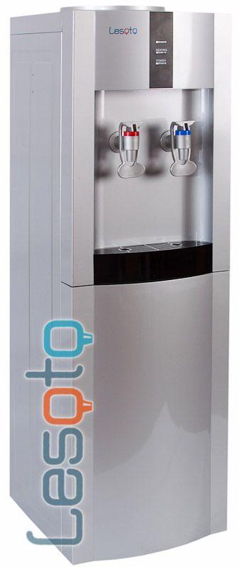Кулер для воды Lesoto 16 L-B/E silver-black с холодильником